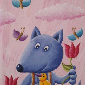 Notes veliki s ilustracijom plave lisice