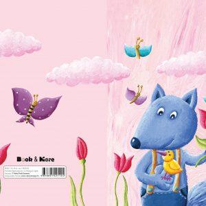 Bilježnica i notes s ilustracijom Plave lisice, ptičice i leptira