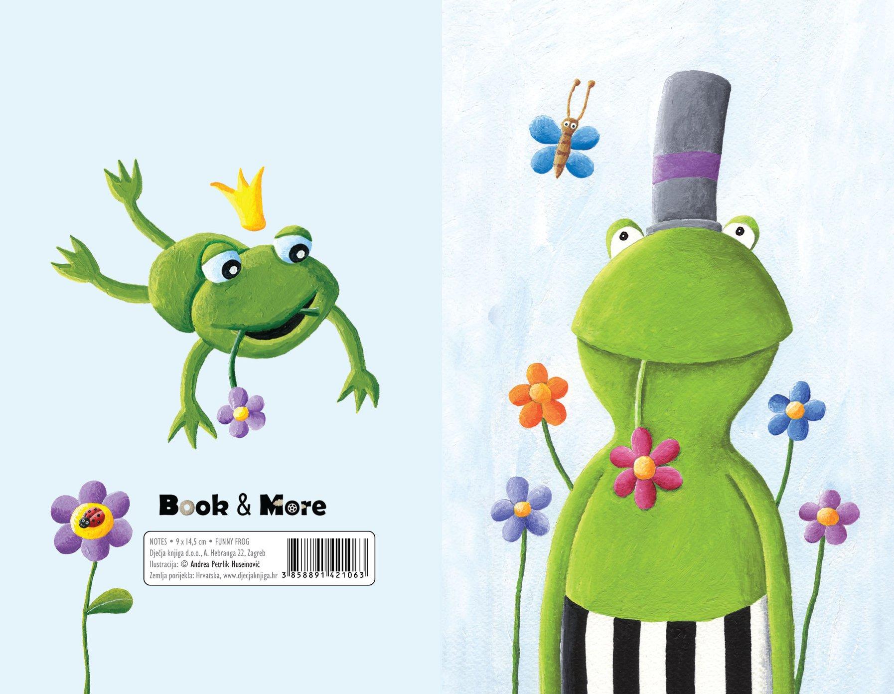 Mali notes s ilustracijom zelene žabe